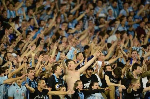 Sydney FC - The Cove in action. (Photo by Getty Images)