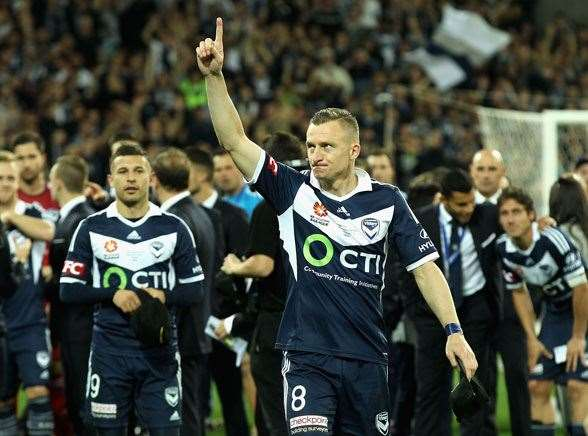 A-League's own hitman, Melbourne Victory star Besart Berisha. (Photo by Getty Images)