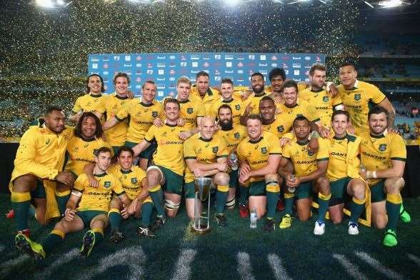 The Wallabies crowned as victors of the 2015 Rugby Championship.(Photo by Getty Images)