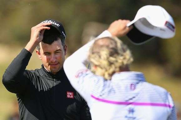 It was a tough day for Adam Scott and Peter Wilson. PHOTO: Michael Dodge/Getty Images.