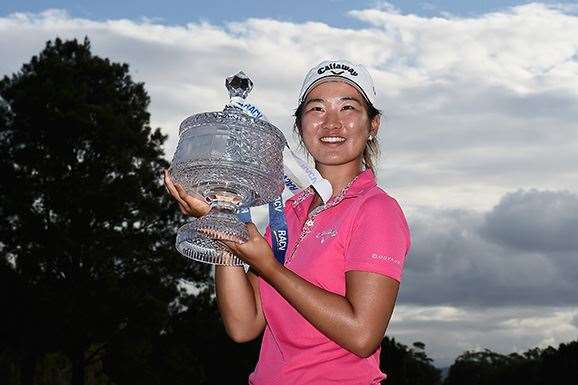 RACV Ladies Masters Champion Su Oh was named ALPG Player of the Year. PHOTO: Matt Roberts/Getty Images.