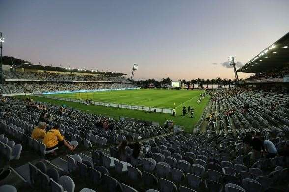 Central Coast Stadium recorded the lowest attendance of round 9. (Photo by Getty Images)