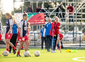 Supporting the Lady Reds alongside coach Jamie Harnwell (Photo: Adam Butler)