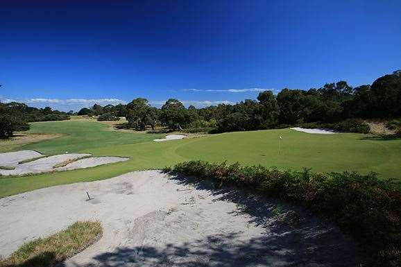 Royal Melbourne West course. PHOTO:Brendan James