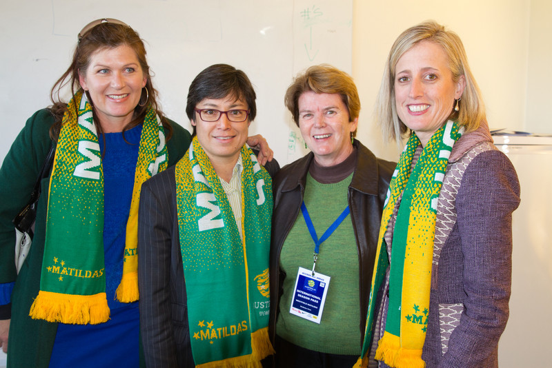 Former Federal Minister for Sport Kate Lundy, Moya Dodd, Heather Reid and ACT Minister Katy Gallagher (Photo: Emily Mogic Photography)
