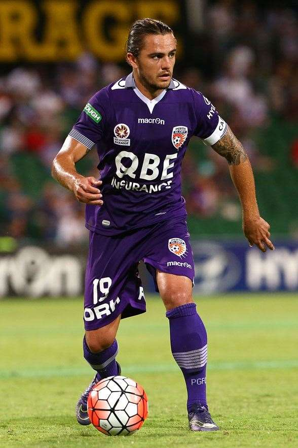 Josh Risdon, a star for Perth Glory and potentially the leading right-back. (Photo by Getty Images)