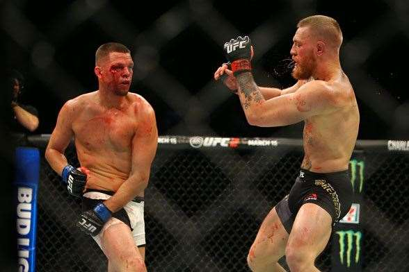 Nate Diaz and Conor McGregor (Photo by Getty Images)