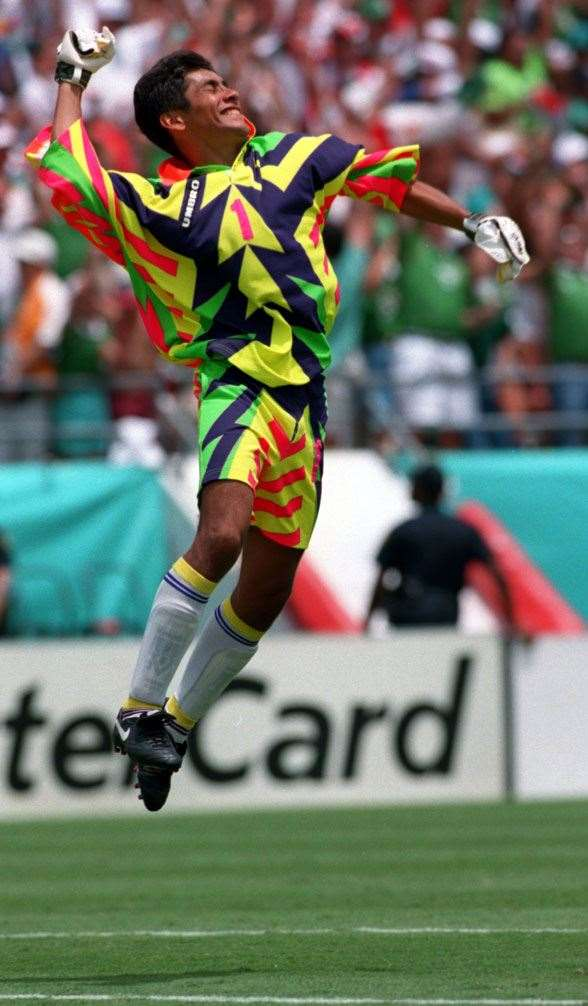 Jorge Campos designed his own jerseys. (Photo by Getty Images)