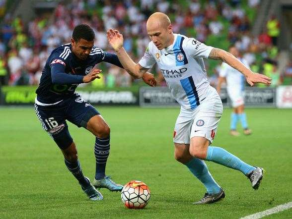 Aaron Mooy's playing the best football in his career for Melbourne City. (Getty Images)