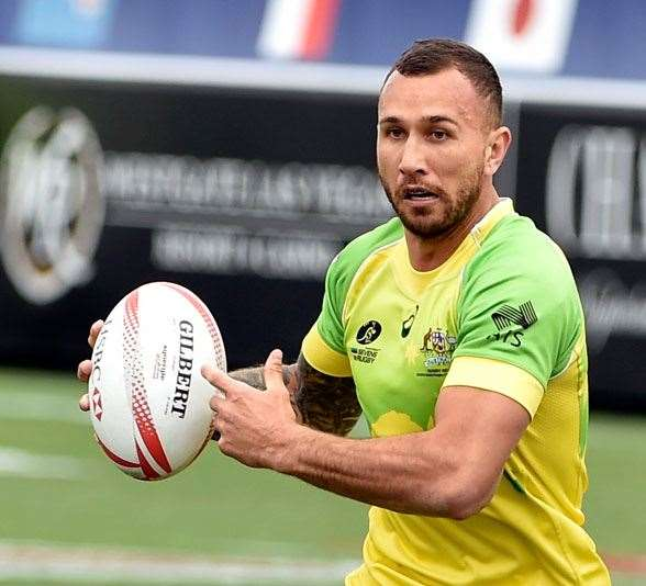 Quade Cooper in action for the Thunderbolts. (Photo by Getty Images)