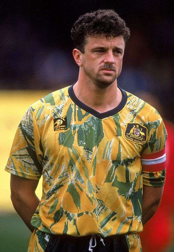 Spew kit from the Socceroos in 1993 (Photo by Getty Images)