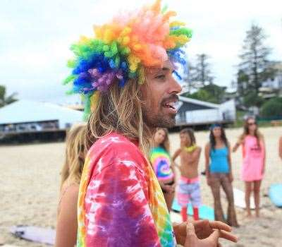 Rasta gathers his environmental disciples at Snapper. Photo: Swilly