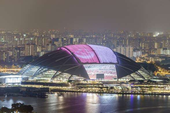 SingaporeNationalStadium has world's largest freespanning dome