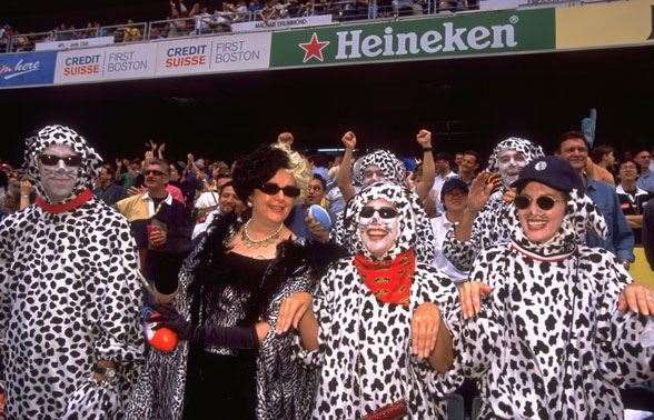 More than just a rugby event, spectators are dress in their best/worst outfits (Photo by Getty Images)