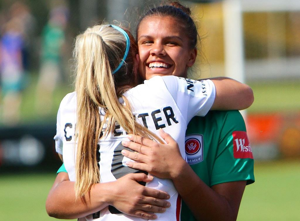 Mathyssen-Whyman and Ellie Carpenter are part of the Matildas future