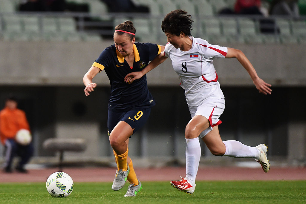 Caitlin Foord in action in the WOQ in Japan (Photo: Getty Images)