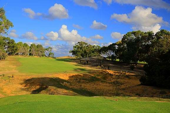The newly designed short par-4 2nd hole has exposed some beautiful wild terrain once covered by trees.  PHOTO: Brendan James/Golf Australia magazine