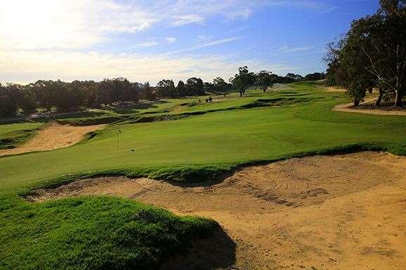 The short par-4 13th has been applauded by our judges.  PHOTO: Brendan James/Golf Australia magazine.