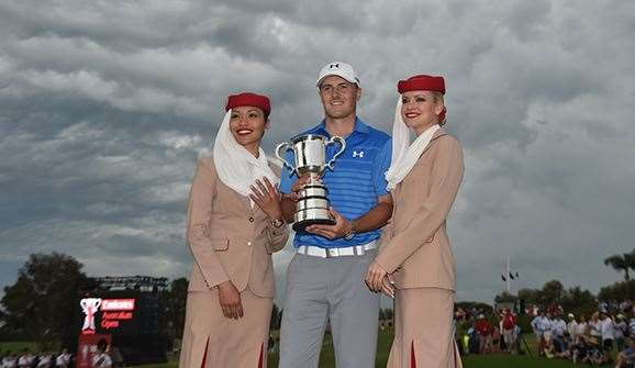Spieth says he is keen to add a second Stonehaven Cup to his trophy cabinet. PHOTO: Peter Parks/AFP/Getty Images.