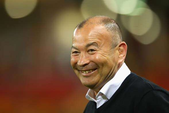 All smiles for Eddie Jones. (Photo by Getty Images)