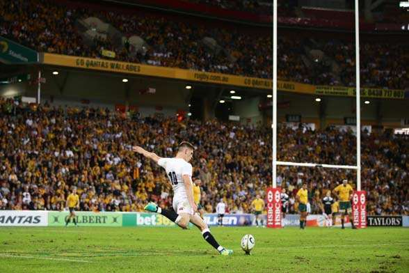 Owen Farrell's boot helped steer England to their victory. (Photo by Getty Images)
