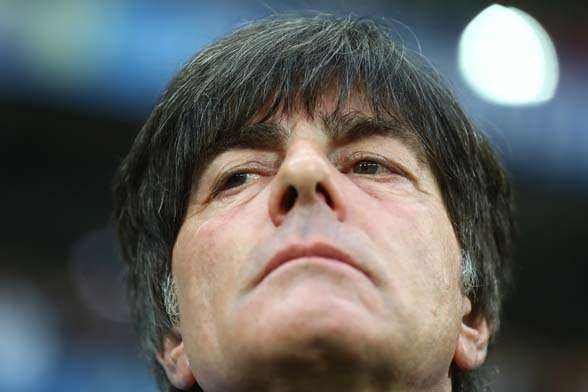 Joachim Loew, his mastermind brain and his infamous nsoe. (Photo by Getty Images)