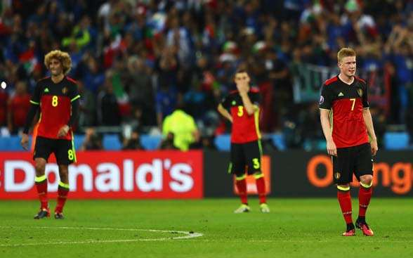 Kevin De Bruyne, one of the Belgian superstars who went missing against Italy. (Photo by Getty Images)