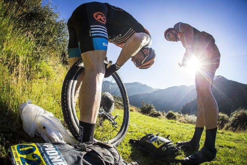 Punctures plagued an unlucky few (c) Tim Bardsley-Smith
