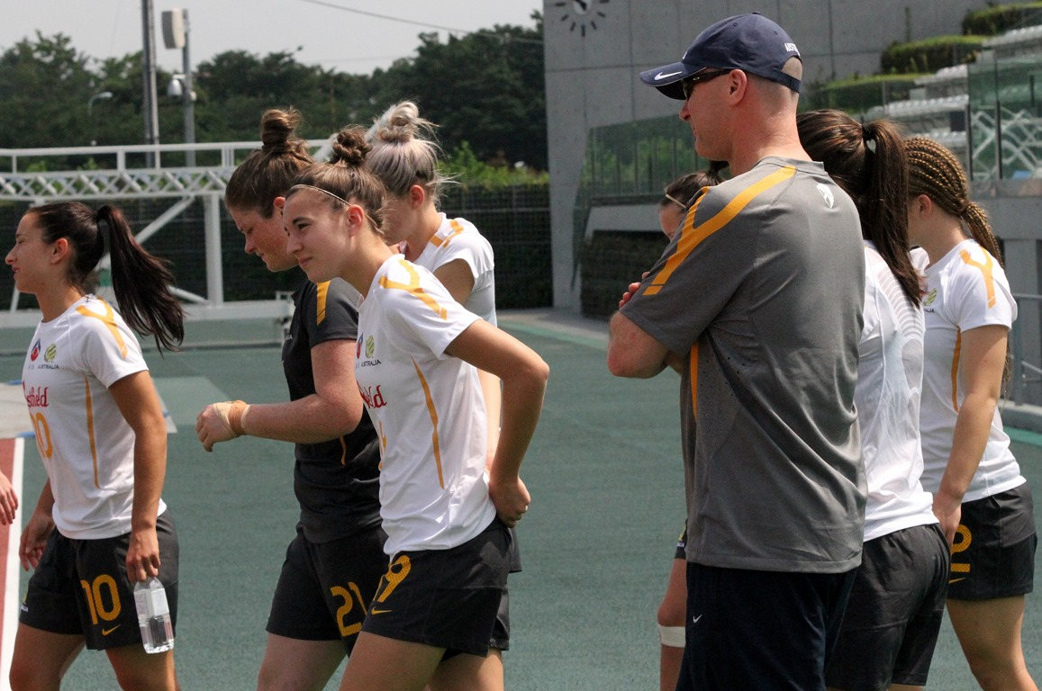 Looking on at Matildas training (Photo: Ann Odong)