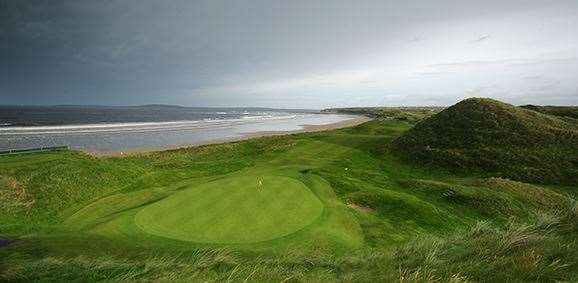 The green on the 385 yard par 4, 17th hole on the Old Course at Ballybunion Golf Club. PHOTO: David Cannon/Getty Images.