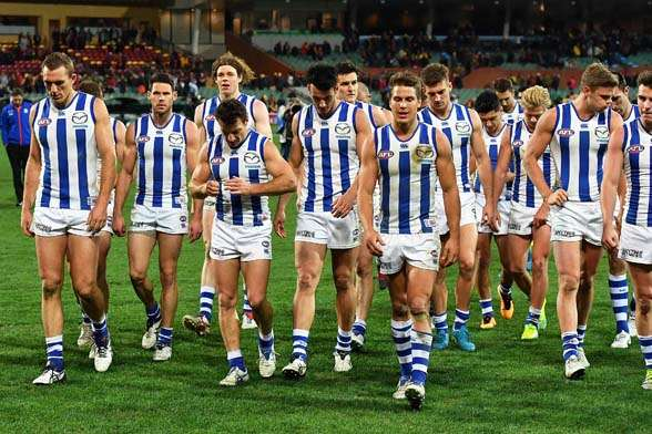 A mid season resurgence is needed at North Melbourne. (Photo by Getty Images)