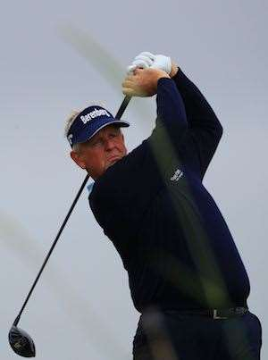 Montgomerie says there is no longer any pressure on him to win. PHOTO: Mike Ehrmann/Getty Images.