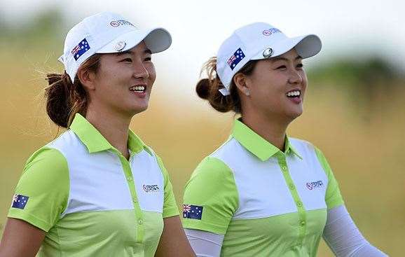 Su Oh (left) and Minjee Lee now head to Rio to represent Australia at the Olympics. PHOTO: Stacy Revere/Getty Images.