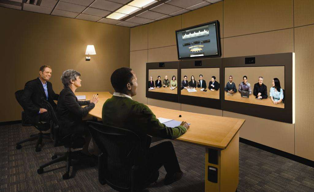 Hp Shows Off Us 350 000 Halo Video Conferencing Room