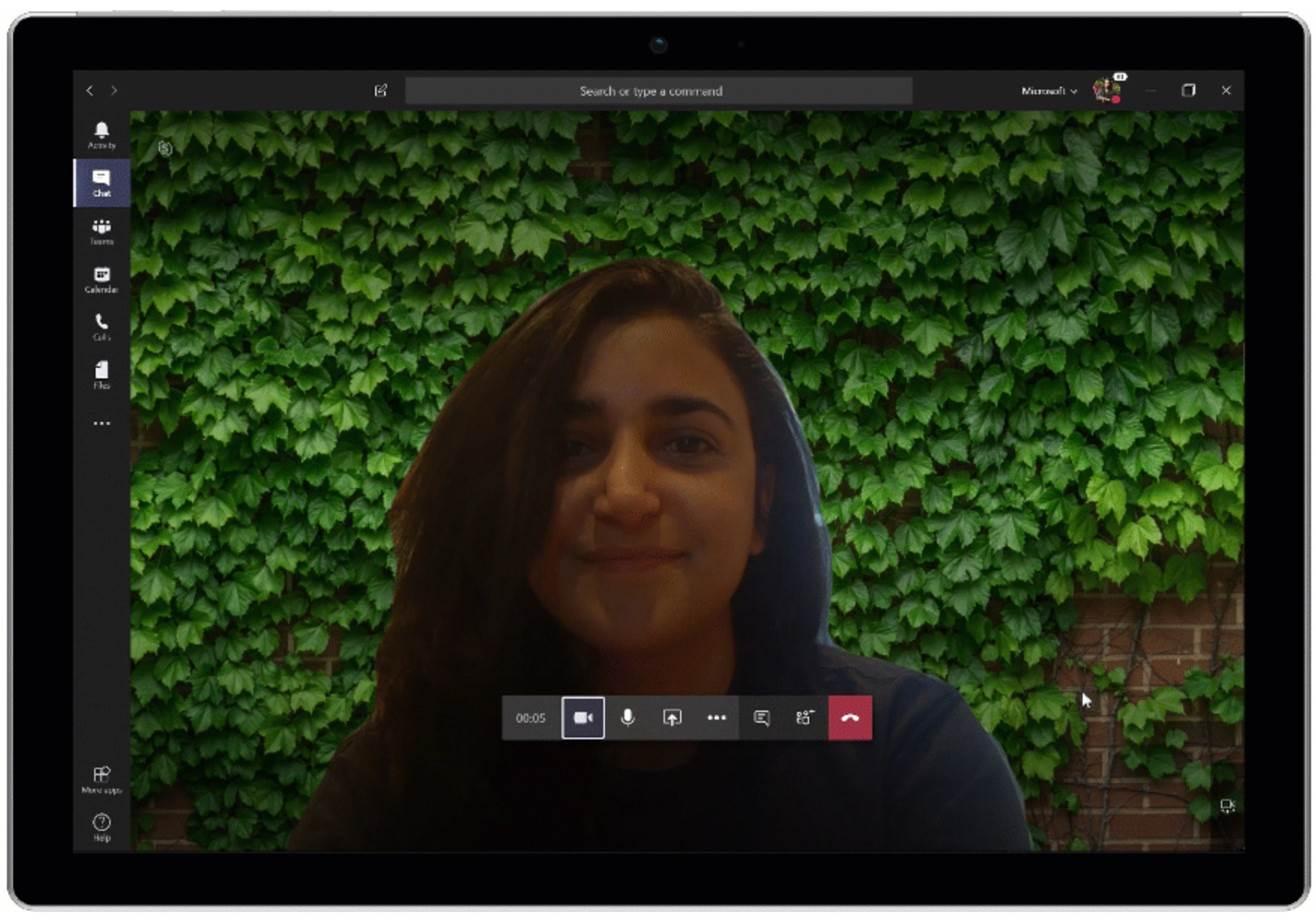 Microsoft Teams makes home video calls look more