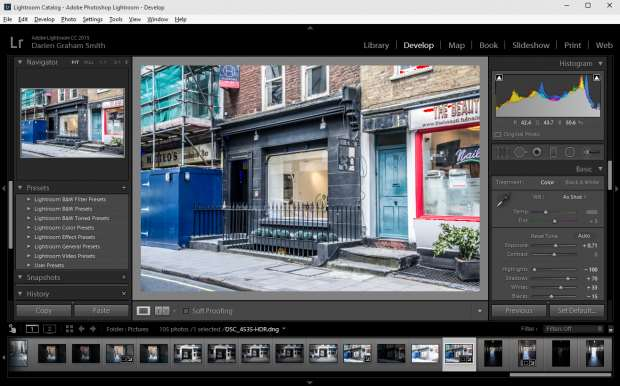 Lightroom 6 review - main UI