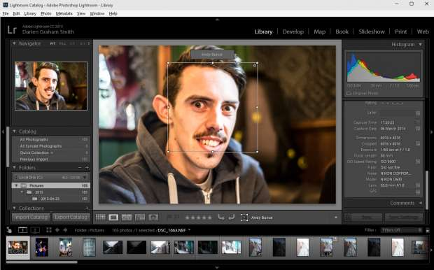 Lightroom 6 review: facial recognition