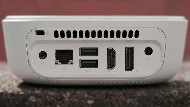 HP Pavilion Mini: Rear panel closeup