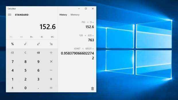 Windows 10 review: The new Calculator app