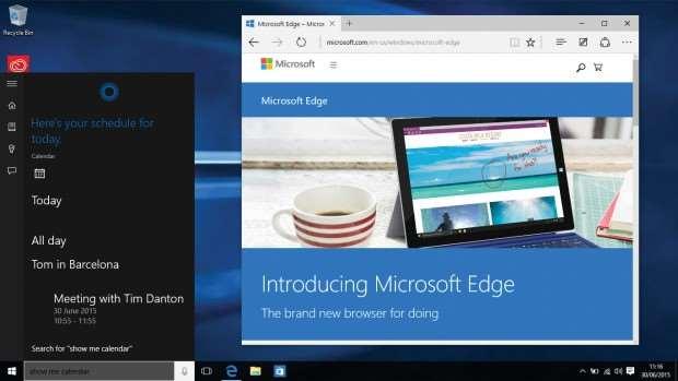 Windows 10 review: Microsoft Edge and Cortana