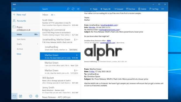 Windows 10 review: Mail app