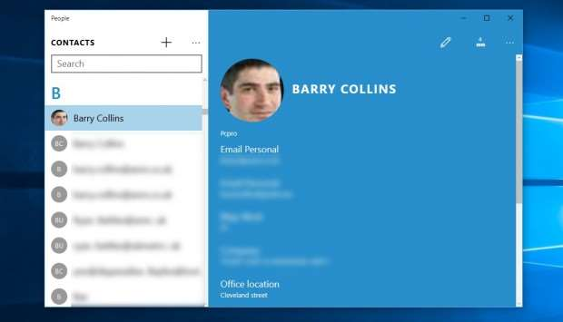 Windows 10 review: People app
