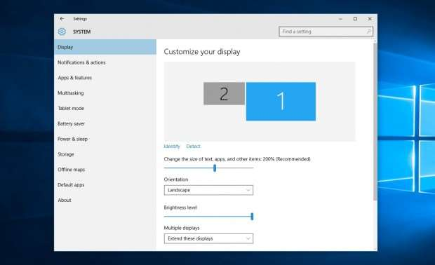 Windows 10 review: Screen scaling options