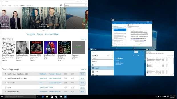 Windows 10 review: Snap assist