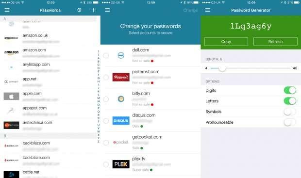 Dashlane review: app screenshots