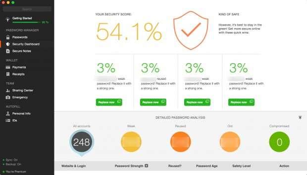 Dashlane review: Password health check