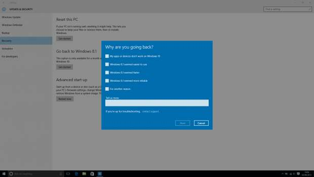 How to downgrade Windows 10 to Windows 8.1 and Windows 7 - multiple choice answer
