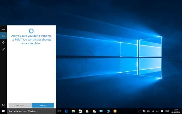 How to Disable Cortana in Windows 10 - Cortana not interested