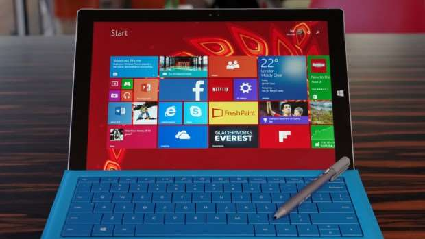 Surface Pro 3 review design face on