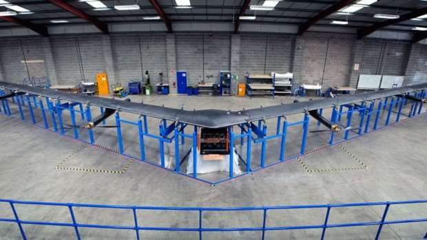 Facebook aquila drone warehouse